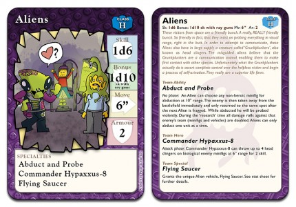 Aliens - Can remove enemy units from the battlefield and can use mind control.
